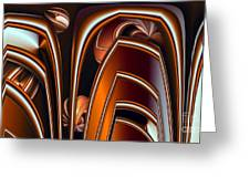 Copper Shields Greeting Card