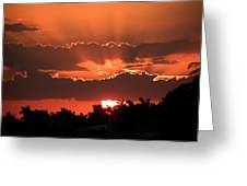 Copper Sunset Greeting Card