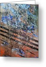 Copper To Blue Abstract Greeting Card