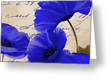 Coquelicots Bleue Greeting Card
