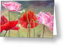 Coquelicots Greeting Card