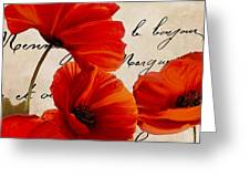 Coquelicots Rouge I Greeting Card