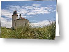Coquille Lighthouse H Greeting Card