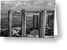 Coquille Lighthouse Greeting Card
