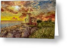 Coquille River Lighthouse 4 Greeting Card
