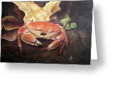 Coral Crab Greeting Card