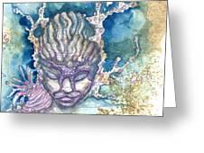 Coral Head Greeting Card by Ashley Kujan