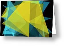 Coral Reef Polygon Pattern Greeting Card