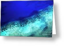 Coral Reef Seen Through Clear Waters Surrounding Mosso Island Greeting Card