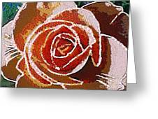 Coral Rose In The Mix Greeting Card