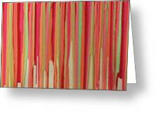 Coral Stripe  Greeting Card