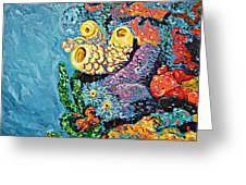Coral With Cucumber Greeting Card