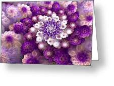 Coraled Blooms Greeting Card