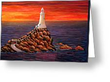 Corbiere Lighthouse - Jersey Greeting Card