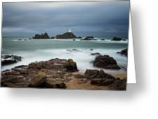 Corbiere Lighthouse Greeting Card by James Billings