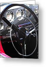 Cord Phaeton Dashboard Greeting Card