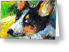 Corgi Dog Portrait Greeting Card