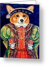 Corgi King Greeting Card