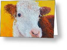 Coriander The Cow Greeting Card