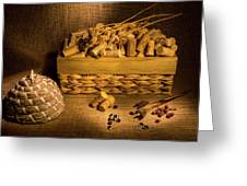 Cork And Basket 3 Greeting Card