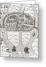 Cork, County Cork, Ireland In 1633 Greeting Card