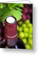 Cork Of Wine Bottle  Greeting Card by Anna Omelchenko
