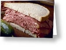 Corn Beef Sandwich Greeting Card