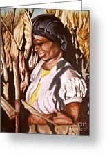 Corn Harvest Greeting Card
