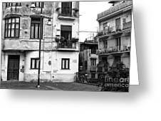 Corner Building In Sorrento Greeting Card