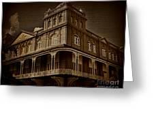 Corner Building Greeting Card