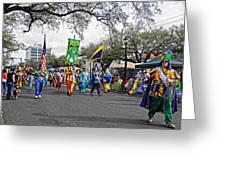 Corner Club 4 - Mardi Gras New Orleans Greeting Card