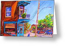 Corner Deli Lunch Counter Greeting Card