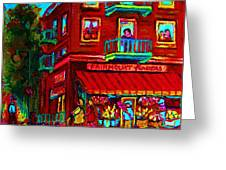 Corner Flowershop Greeting Card