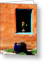 Corner In Santa Fe Nm Greeting Card