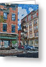 Corner Of Dietz And Main Oneonta Ny Greeting Card