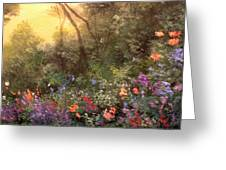 Corner Of The Garden Greeting Card