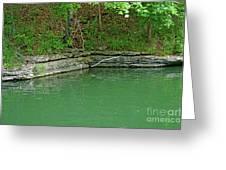 Corner Of The Lake Greeting Card