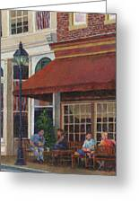 Corner Restaurant Greeting Card