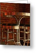 Corner Table - Color Greeting Card