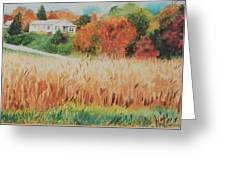 Cornfield In Autumn Greeting Card