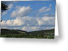 Cornfield With A View Greeting Card