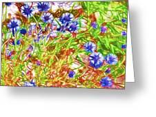 Cornfield With Cornflowers Greeting Card
