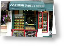 Cornish Pasty Shop Greeting Card