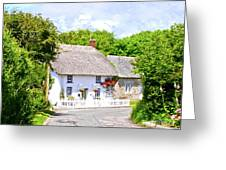 Cornish Thatched Cottage Greeting Card