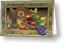 Cornucopia Overflowing Greeting Card