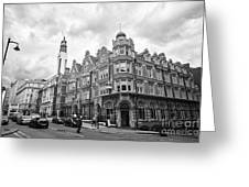 cornwall buildings on the corner of newhall street and cornwall st Birmingham UK Greeting Card