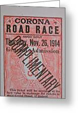 Corona Road Race 1914 Greeting Card