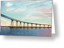 Coronado Bridge Sunset A Greeting Card