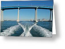 Coronado Bridge Wake Greeting Card
