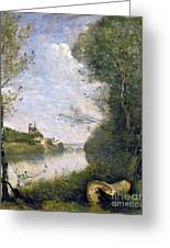 Corot: Cathedral, C1855-60 Greeting Card